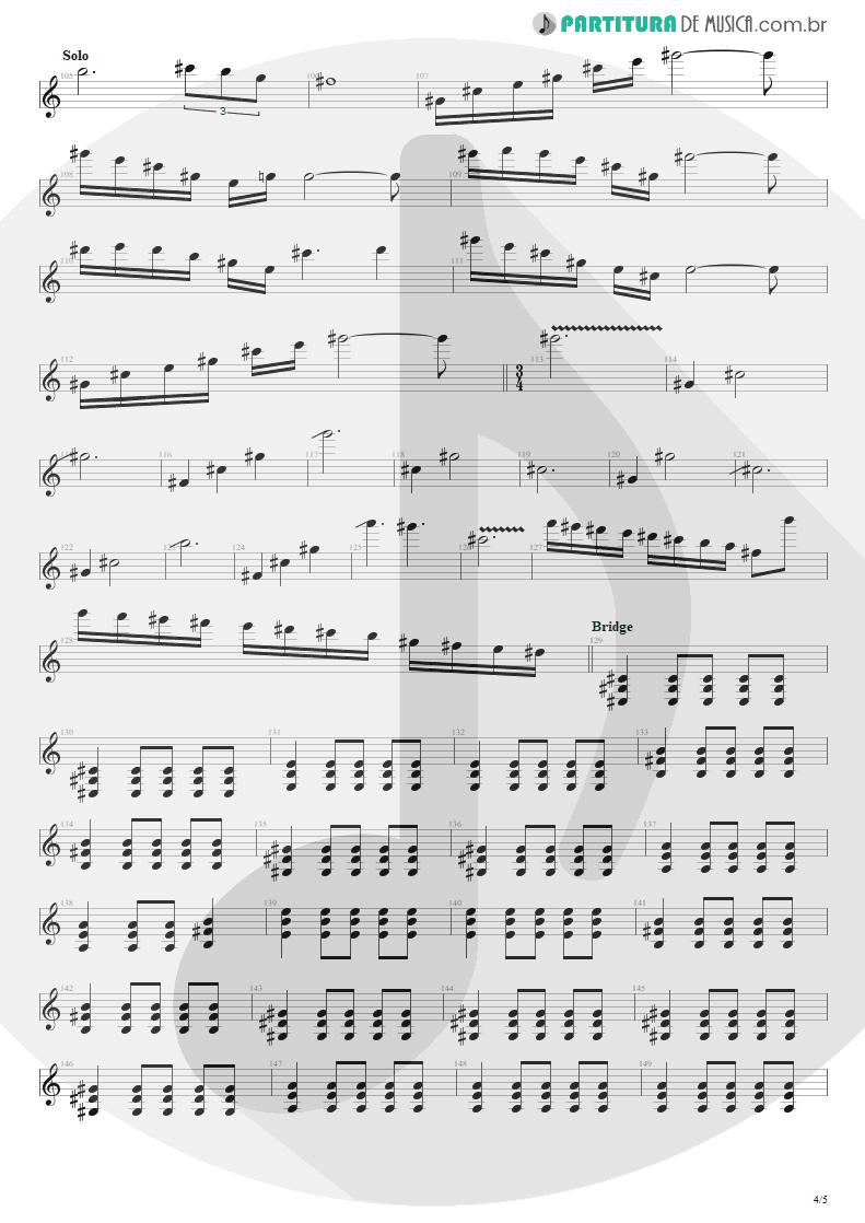 Partitura de musica de Guitarra Elétrica - Almost Easy   Avenged Sevenfold   Avenged Sevenfold 2007 - pag 4