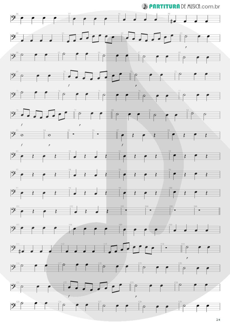 Partitura de musica de Baixo Elétrico - Dear God | Avenged Sevenfold | Avenged Sevenfold 2007 - pag 2
