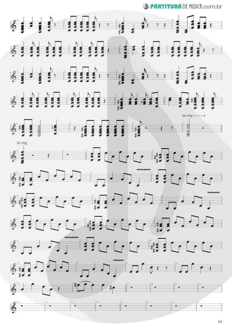 Partitura de musica de Guitarra Elétrica - Dear God   Avenged Sevenfold   Avenged Sevenfold 2007 - pag 2