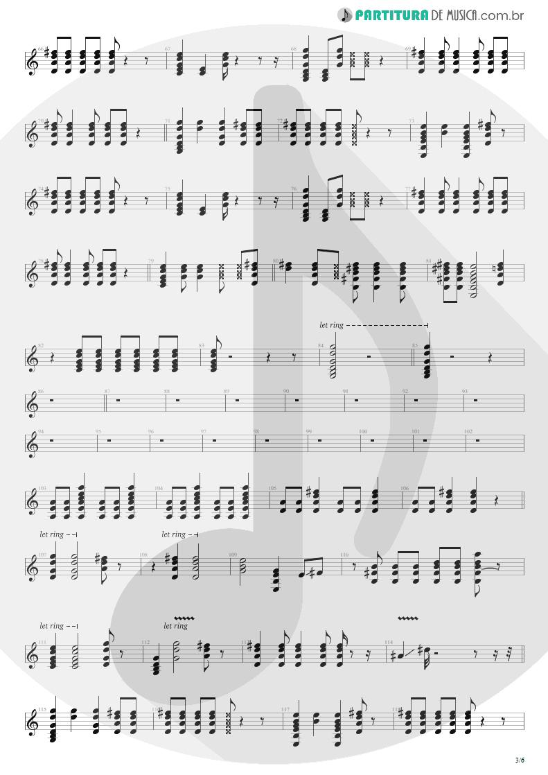 Partitura de musica de Violão - Dear God | Avenged Sevenfold | Avenged Sevenfold 2007 - pag 3