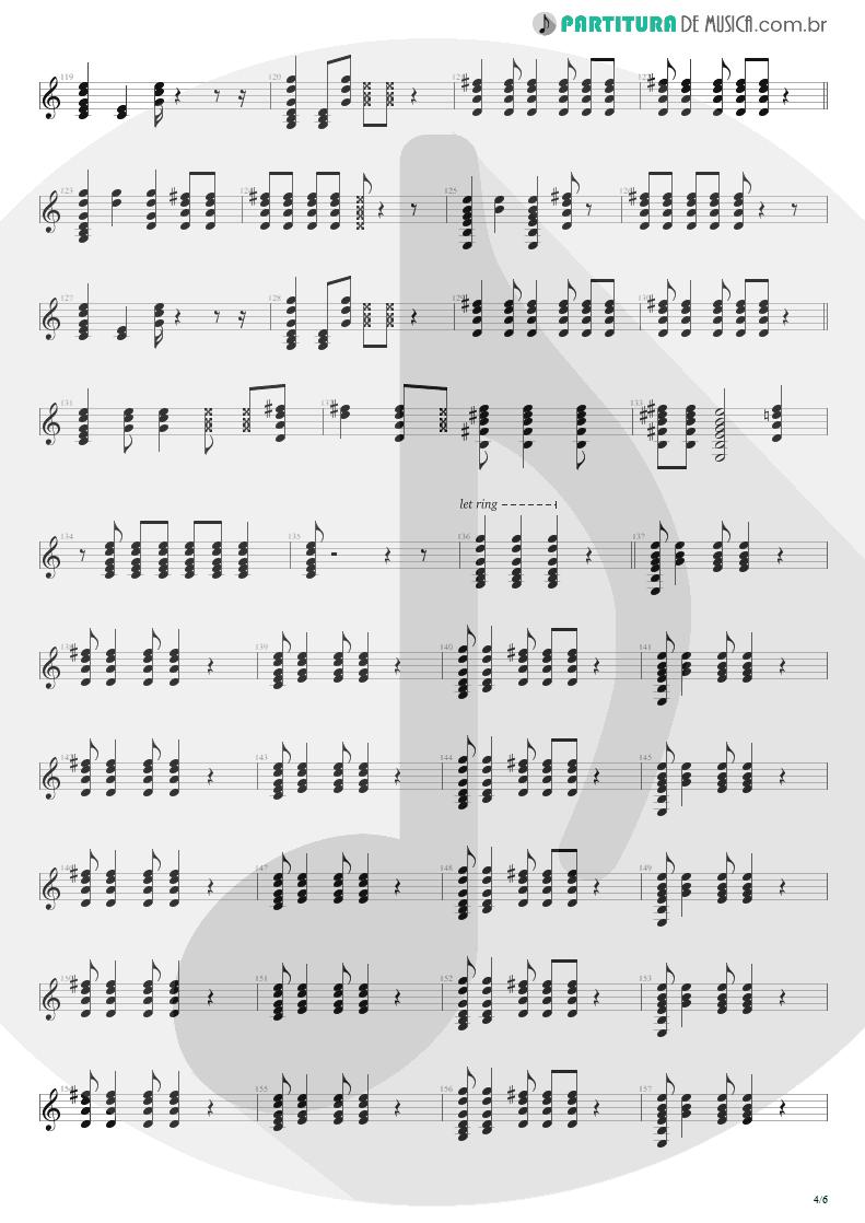Partitura de musica de Violão - Dear God | Avenged Sevenfold | Avenged Sevenfold 2007 - pag 4