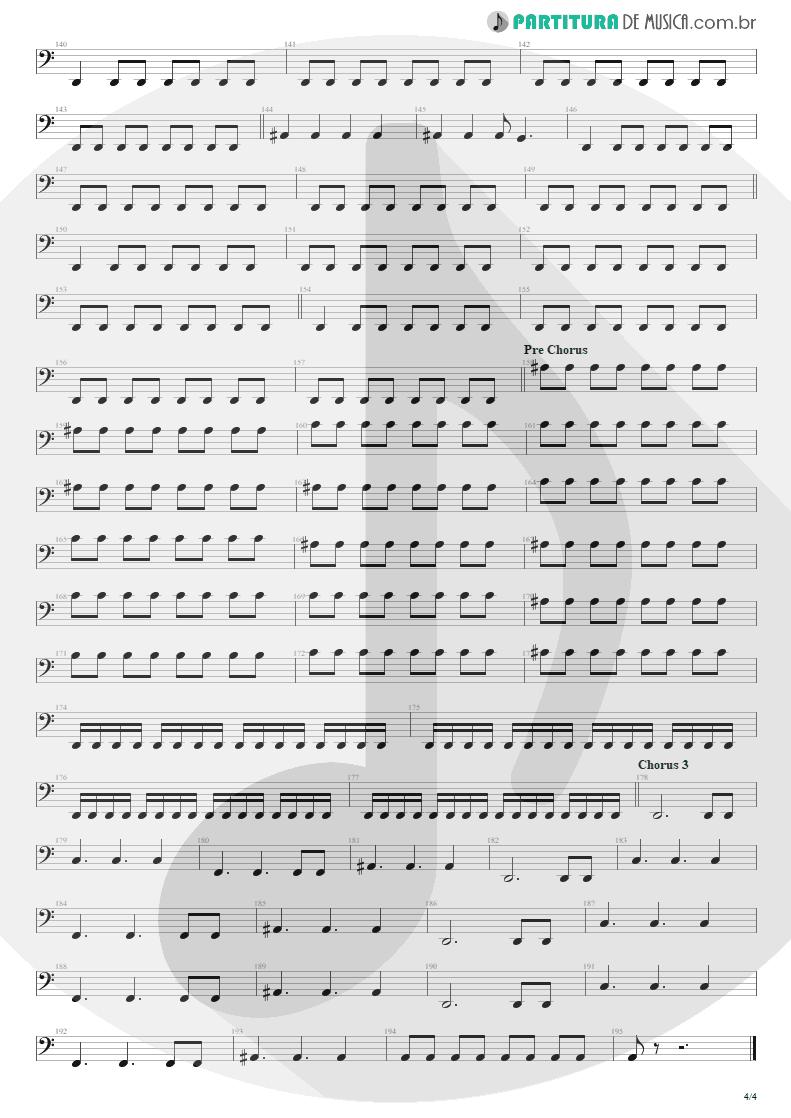 Partitura de musica de Baixo Elétrico - Nightmare   Avenged Sevenfold   Nightmare 2010 - pag 4