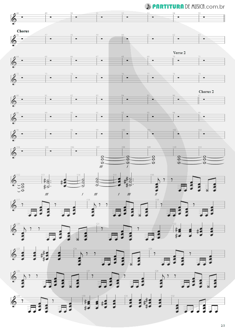 Partitura de musica de Guitarra Elétrica - Nightmare | Avenged Sevenfold | Nightmare 2010 - pag 2