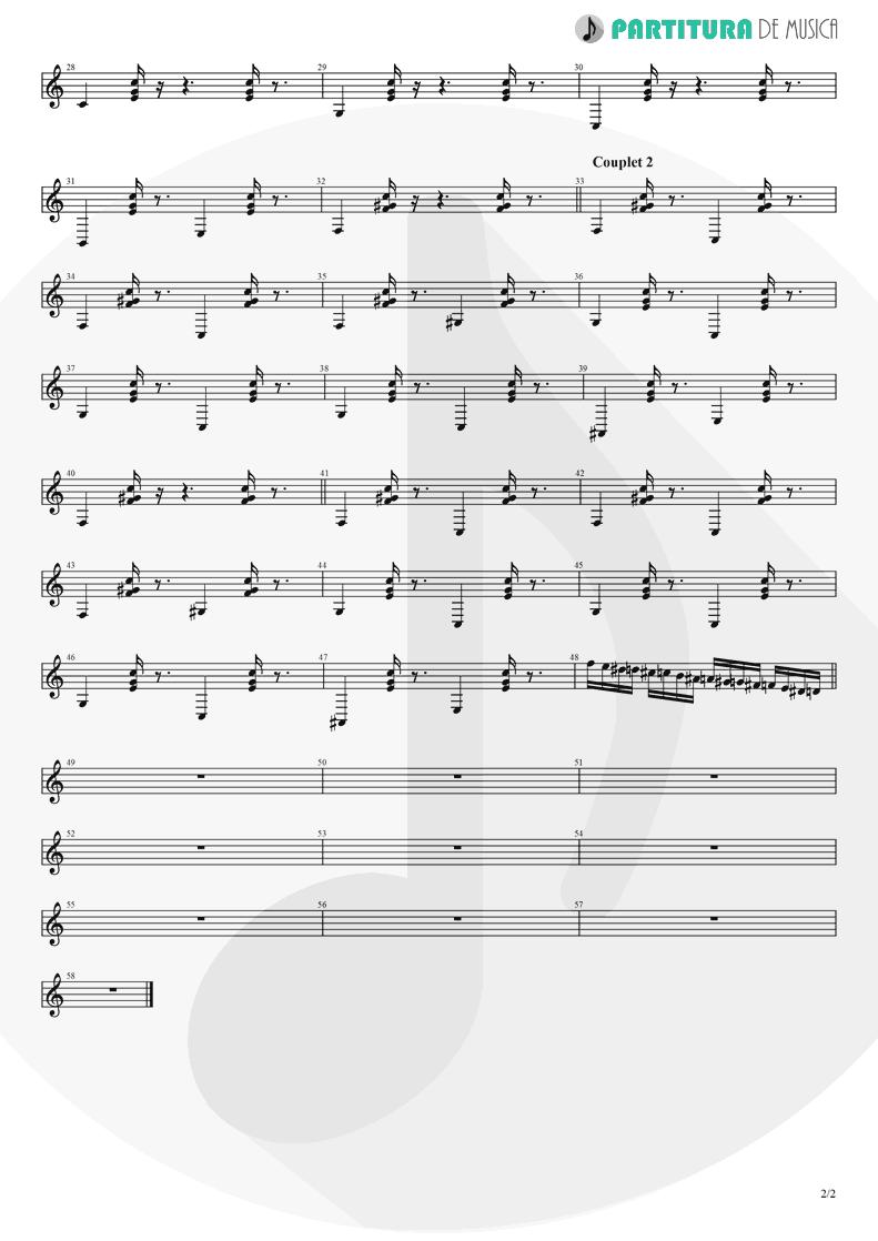 Partitura de musica de Acordeão - J'aurais Bien Voulu | Babylon Circus | Dances Of Resistance 2004 - pag 2