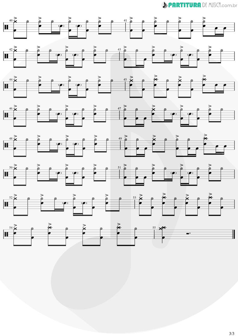 Partitura de musica de Bateria - Vou Te Levar Comigo | Biquini Cavadão | Ao Vivo 2005 - pag 3
