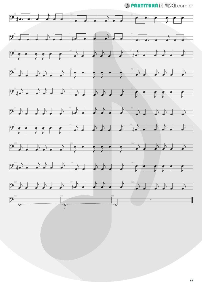 Partitura de musica de Baixo Elétrico - M+M's   Blink-182   Cheshire Cat 1994 - pag 3
