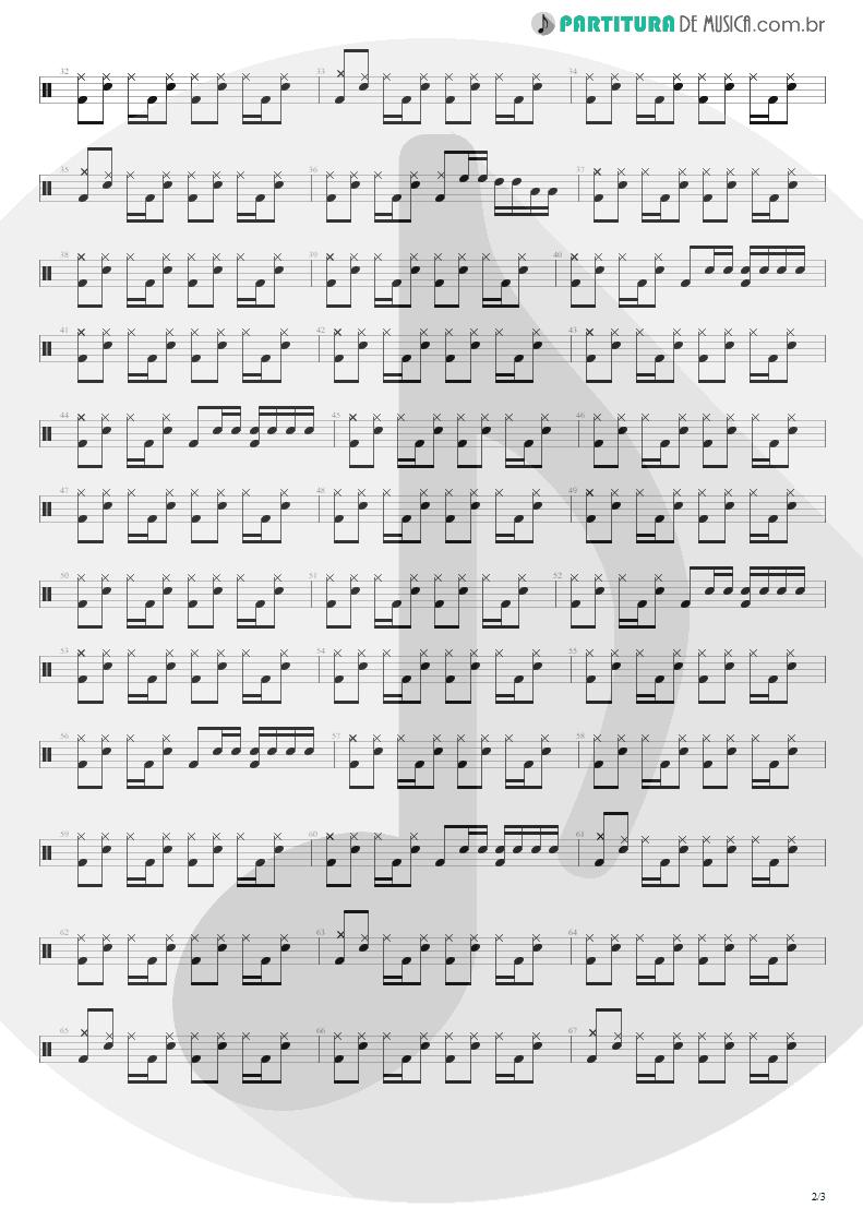 Partitura de musica de Bateria - M+M's | Blink-182 | Cheshire Cat 1994 - pag 2