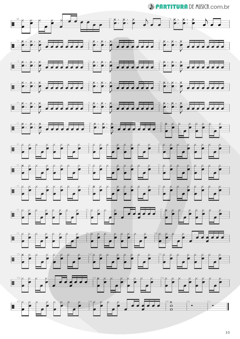 Partitura de musica de Bateria - M+M's | Blink-182 | Cheshire Cat 1994 - pag 3