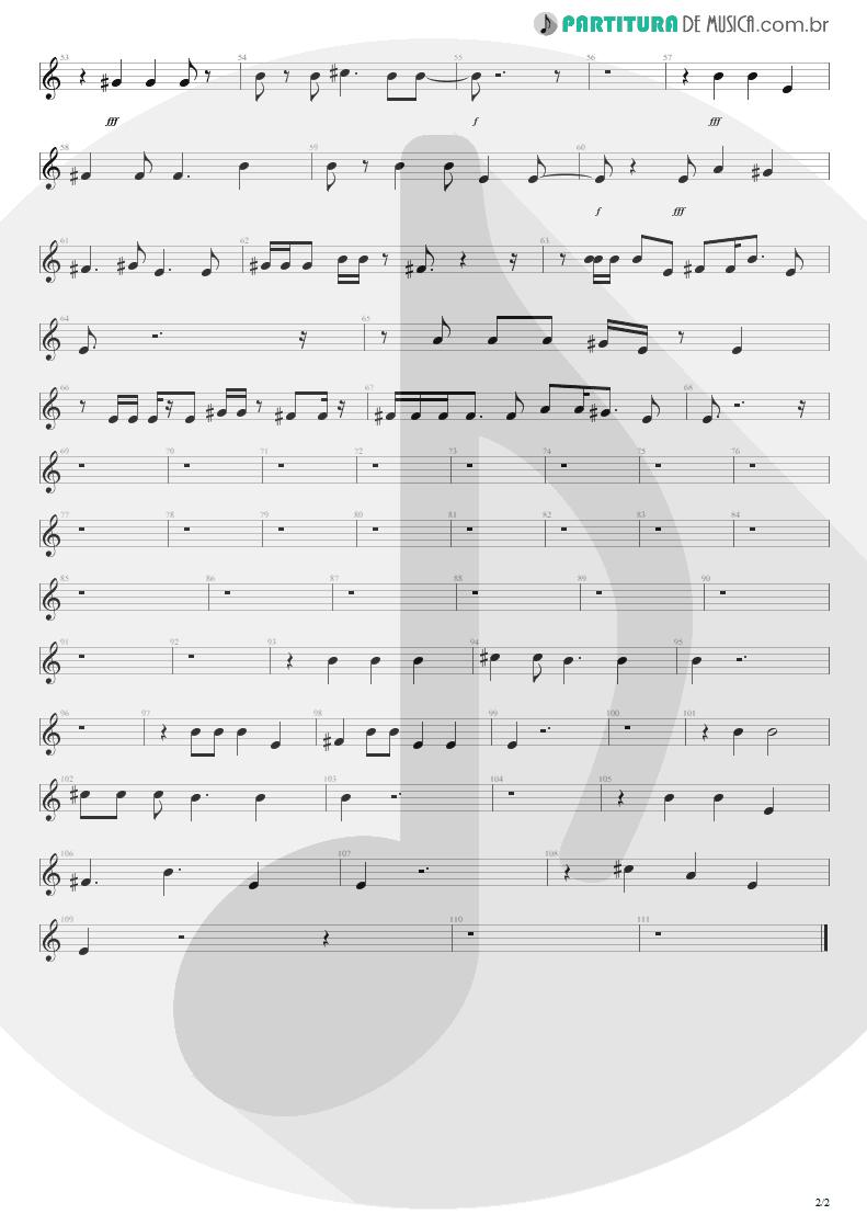 Partitura de musica de Canto - M+M's | Blink-182 | Cheshire Cat 1994 - pag 2