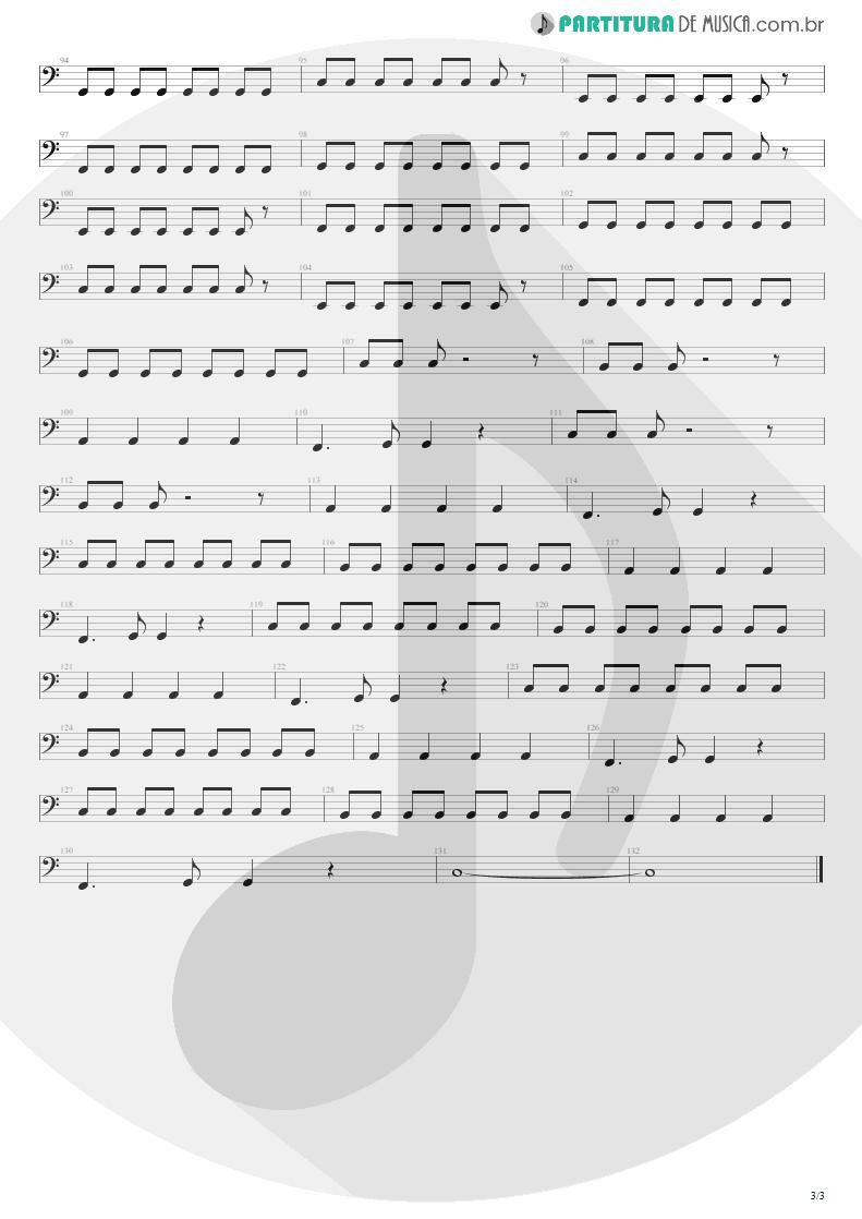 Partitura de musica de Baixo Elétrico - First Date   Blink-182   Take Off Your Pants and Jacket 2001 - pag 3