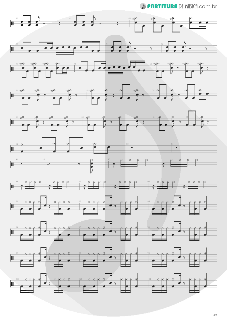 Partitura de musica de Bateria - First Date   Blink-182   Take Off Your Pants and Jacket 2001 - pag 3