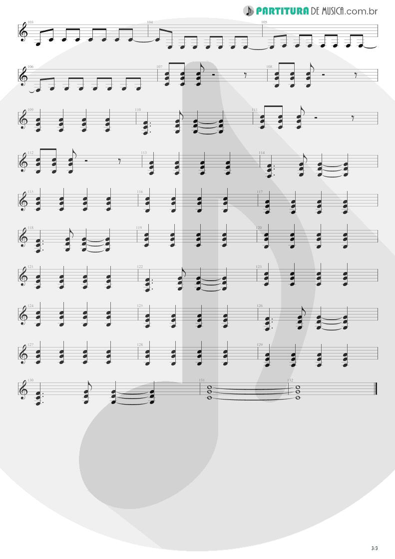 Partitura de musica de Guitarra Elétrica - First Date | Blink-182 | Take Off Your Pants and Jacket 2001 - pag 3