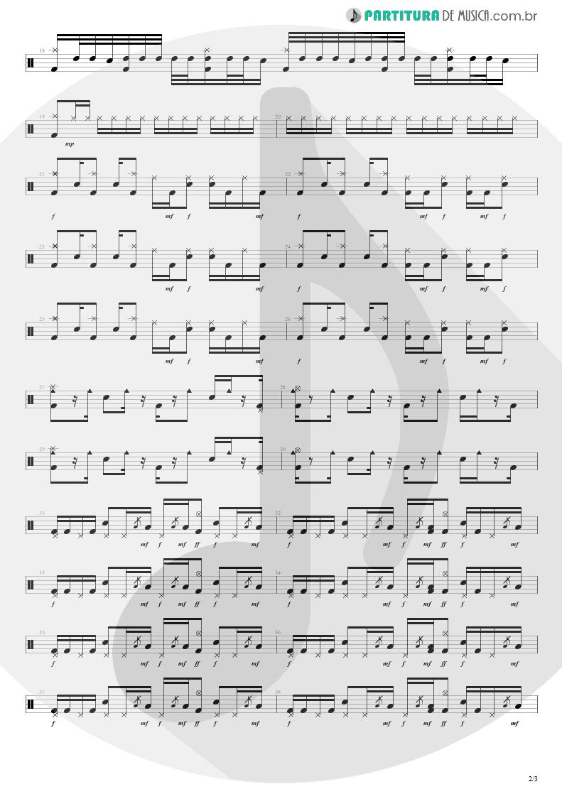 Partitura de musica de Bateria - Feeling This   Blink-182   Blink-182 2003 - pag 2