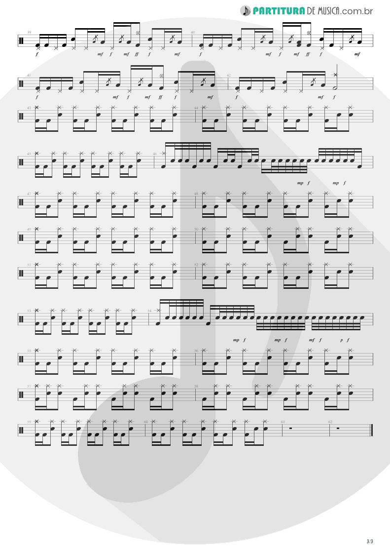 Partitura de musica de Bateria - Feeling This   Blink-182   Blink-182 2003 - pag 3