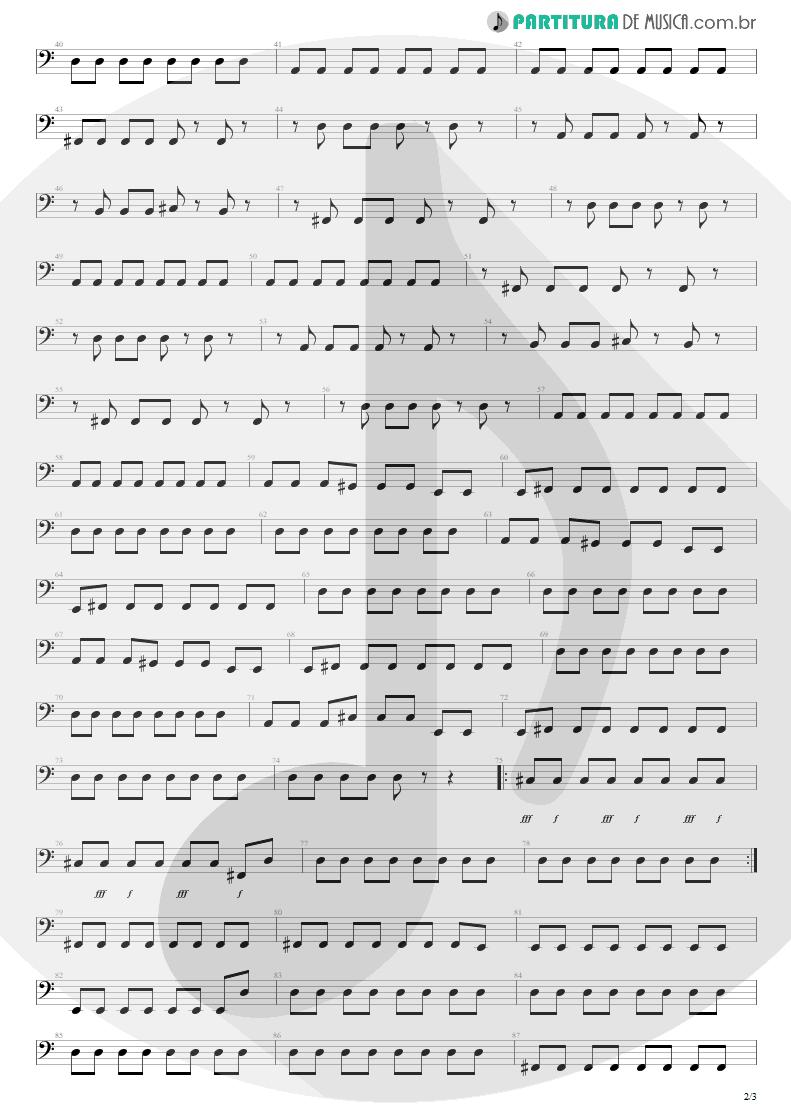 Partitura de musica de Baixo Elétrico - Here's Your Letter | Blink-182 | Blink-182 2003 - pag 2