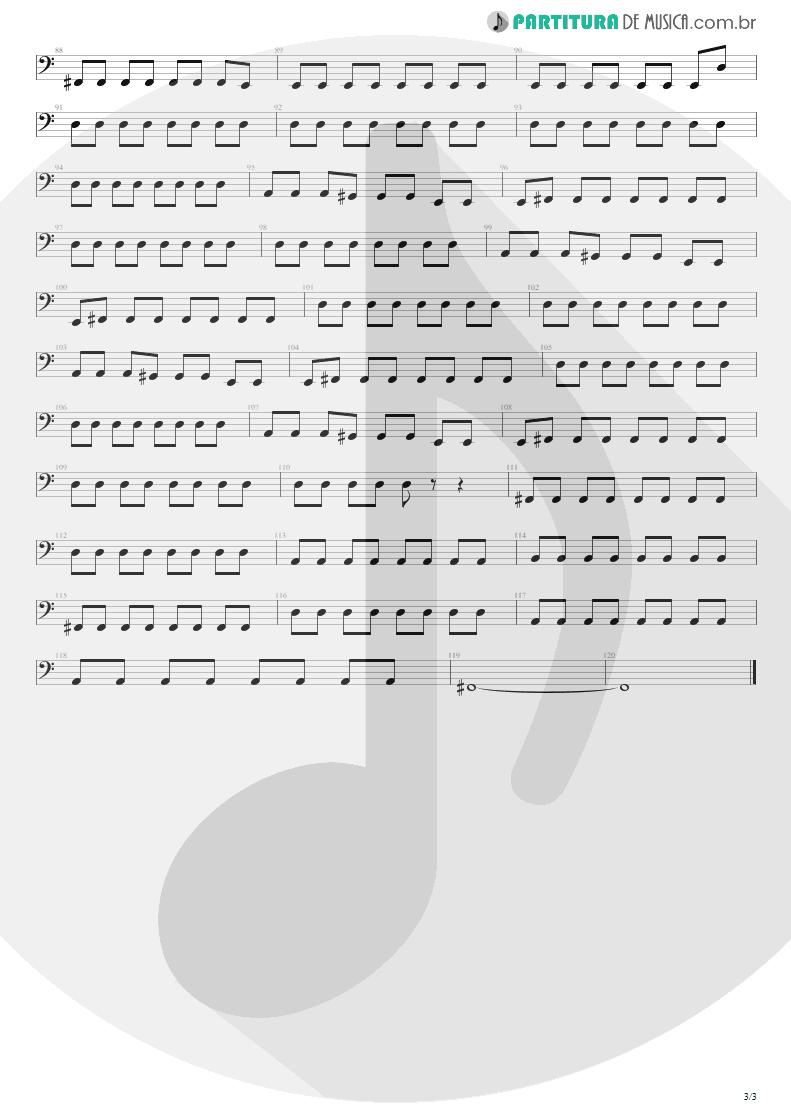 Partitura de musica de Baixo Elétrico - Here's Your Letter | Blink-182 | Blink-182 2003 - pag 3