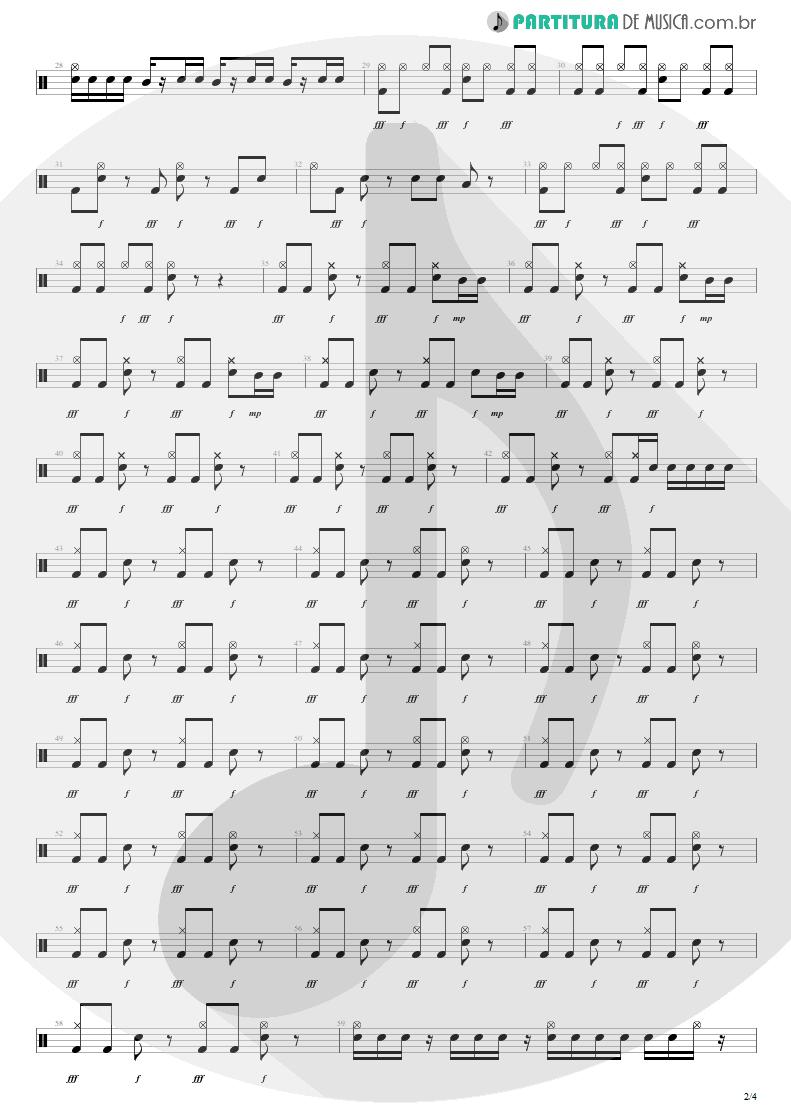 Partitura de musica de Bateria - Here's Your Letter | Blink-182 | Blink-182 2003 - pag 2