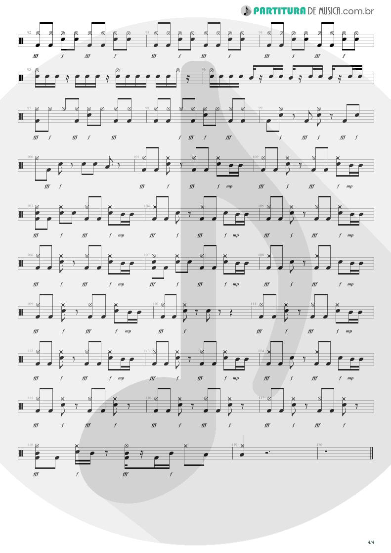 Partitura de musica de Bateria - Here's Your Letter | Blink-182 | Blink-182 2003 - pag 4