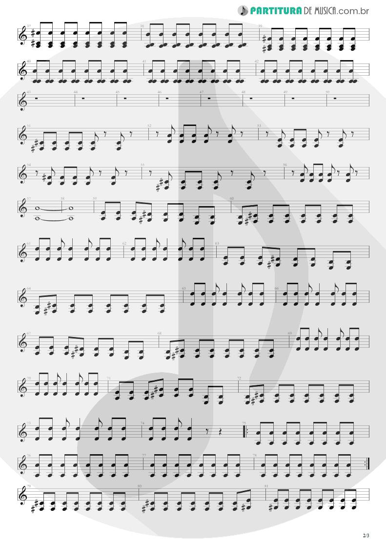 Partitura de musica de Guitarra Elétrica - Here's Your Letter   Blink-182   Blink-182 2003 - pag 2