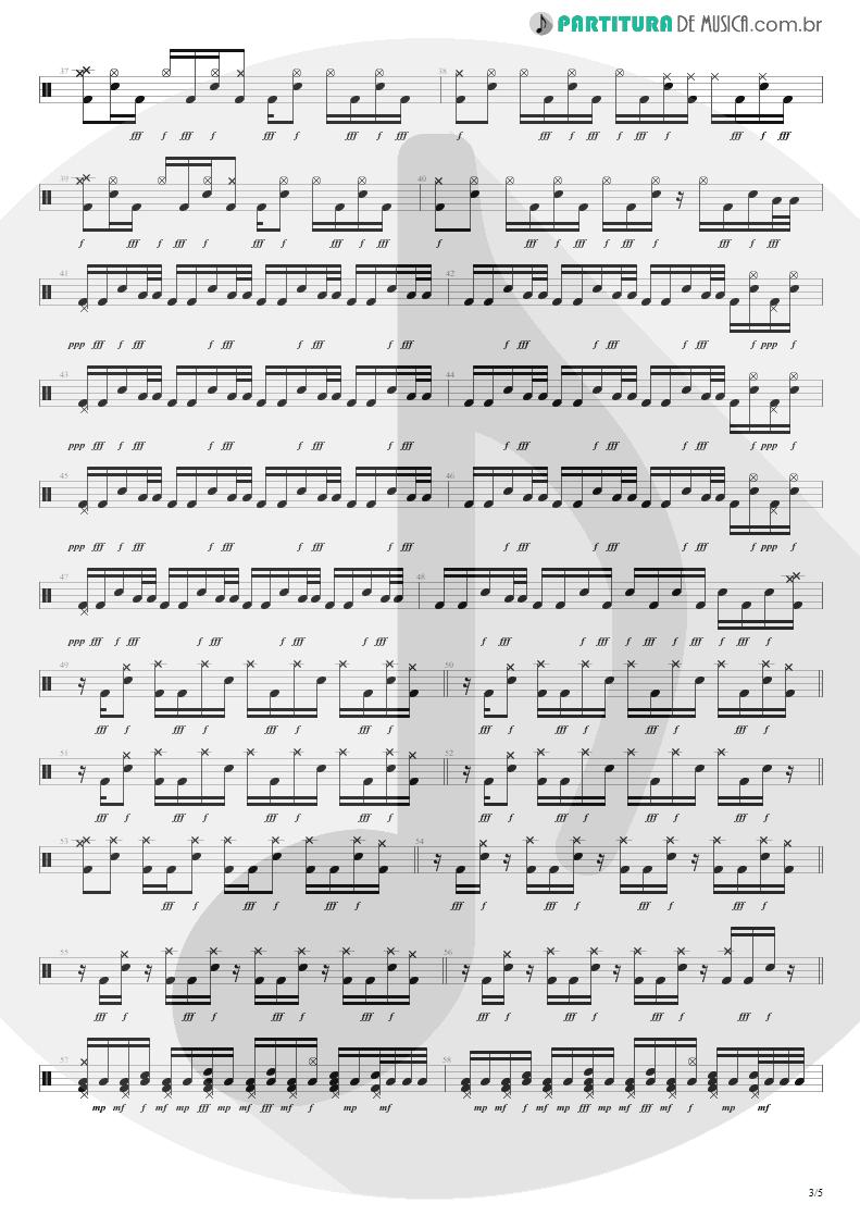 Partitura de musica de Bateria - Not Now   Blink-182   Blink-182 2003 - pag 3