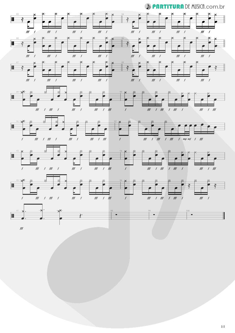 Partitura de musica de Bateria - Not Now   Blink-182   Blink-182 2003 - pag 5