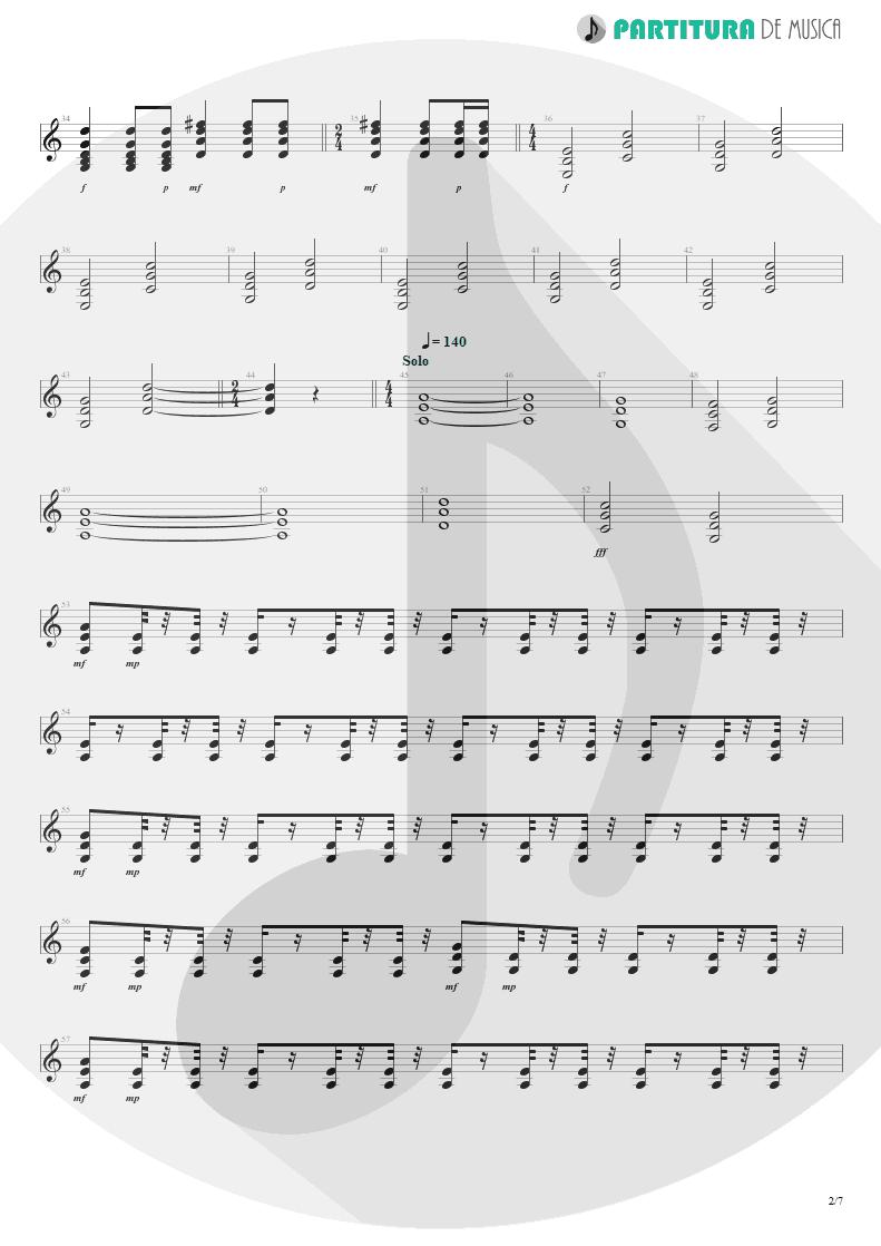 Partitura de musica de Guitarra Elétrica - Tears Of The Dragon | Bruce Dickinson | Balls to Picasso 1994 - pag 2