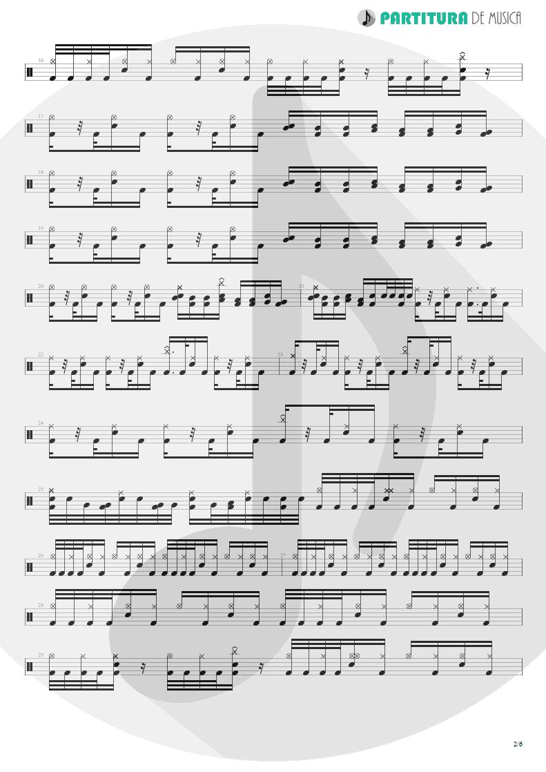 Partitura de musica de Bateria - Trumpets Of Jericho   Bruce Dickinson   The Chemical Wedding 1998 - pag 2