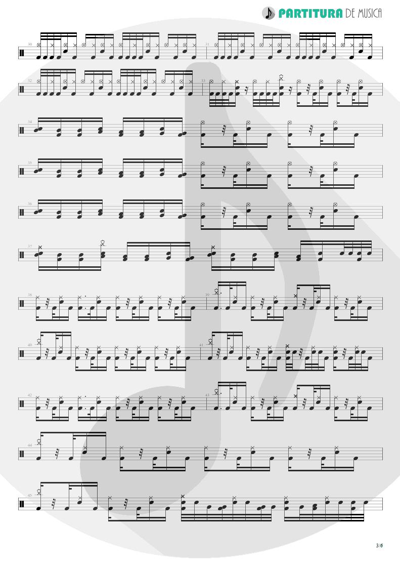Partitura de musica de Bateria - Trumpets Of Jericho   Bruce Dickinson   The Chemical Wedding 1998 - pag 3