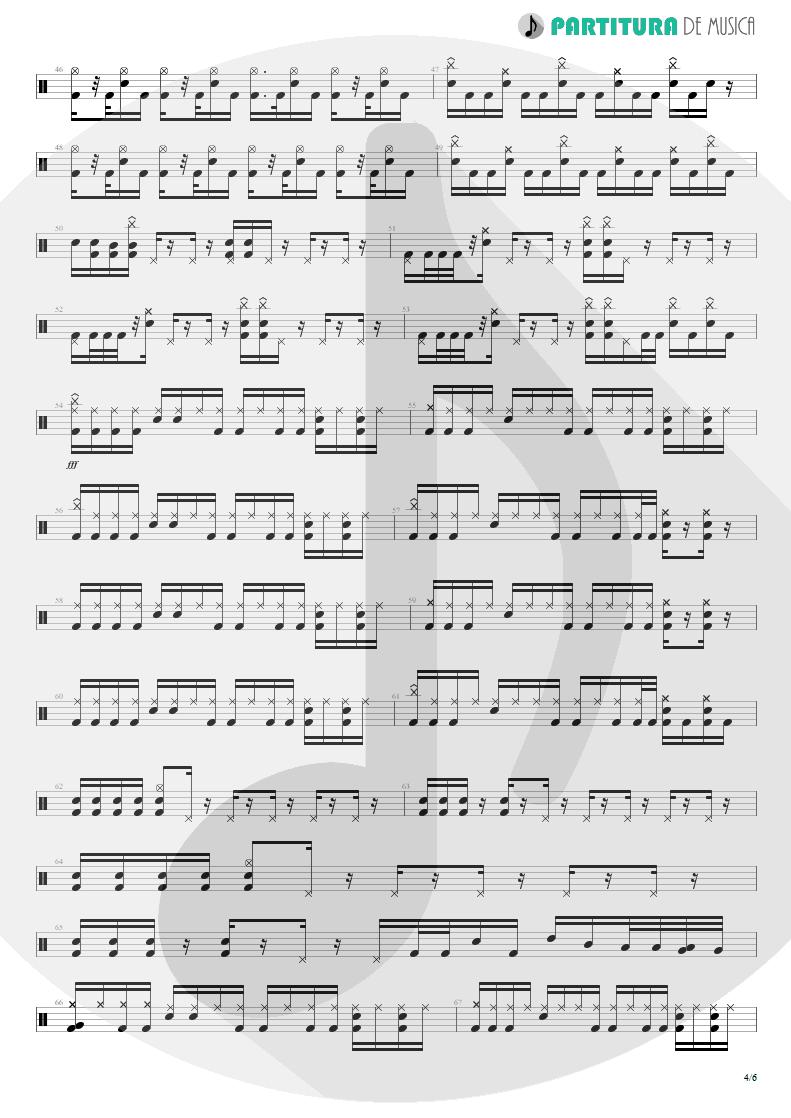 Partitura de musica de Bateria - Trumpets Of Jericho   Bruce Dickinson   The Chemical Wedding 1998 - pag 4