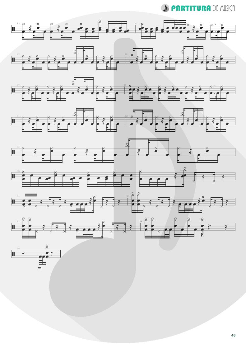 Partitura de musica de Bateria - Trumpets Of Jericho   Bruce Dickinson   The Chemical Wedding 1998 - pag 6