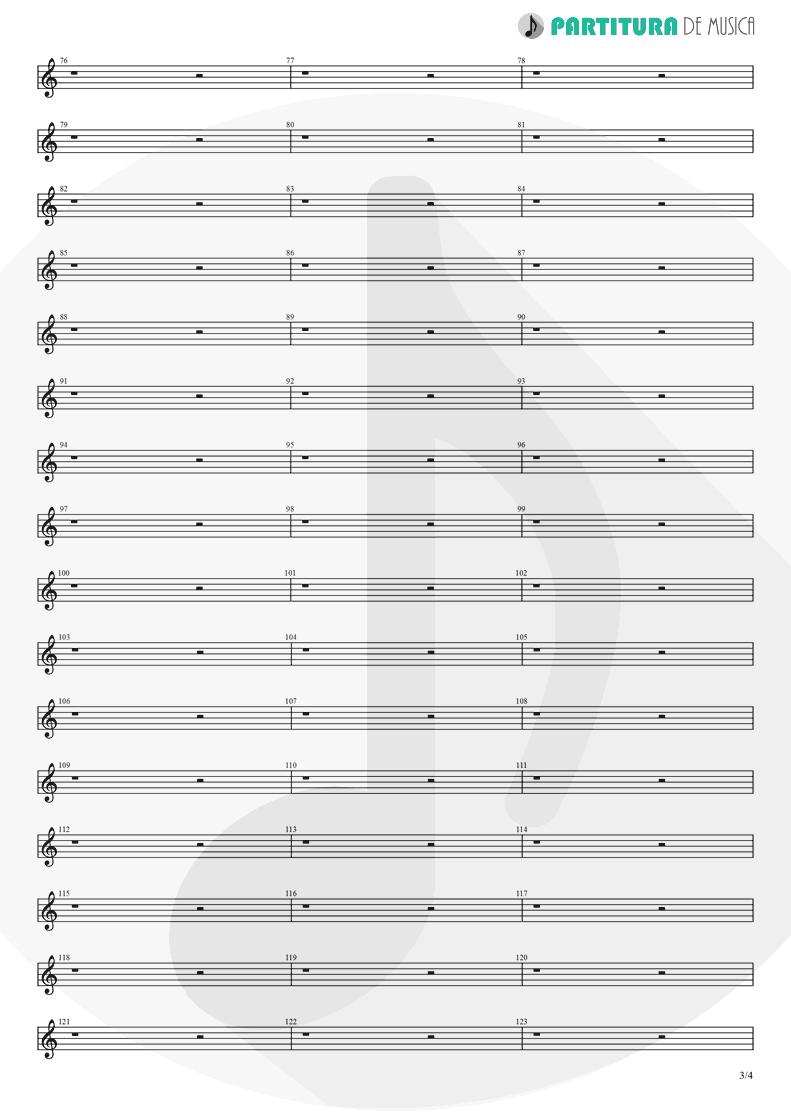Partitura de musica de Piano - Afuera | Caifanes | El nervio del volcán 1994 - pag 3