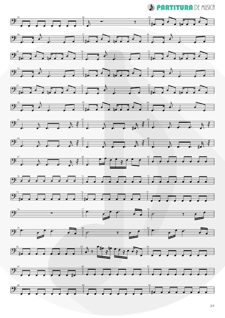 Partitura de musica de Baixo Elétrico - Aqui No Es Asi | Caifanes | El nervio del volcán 1994 - pag 2