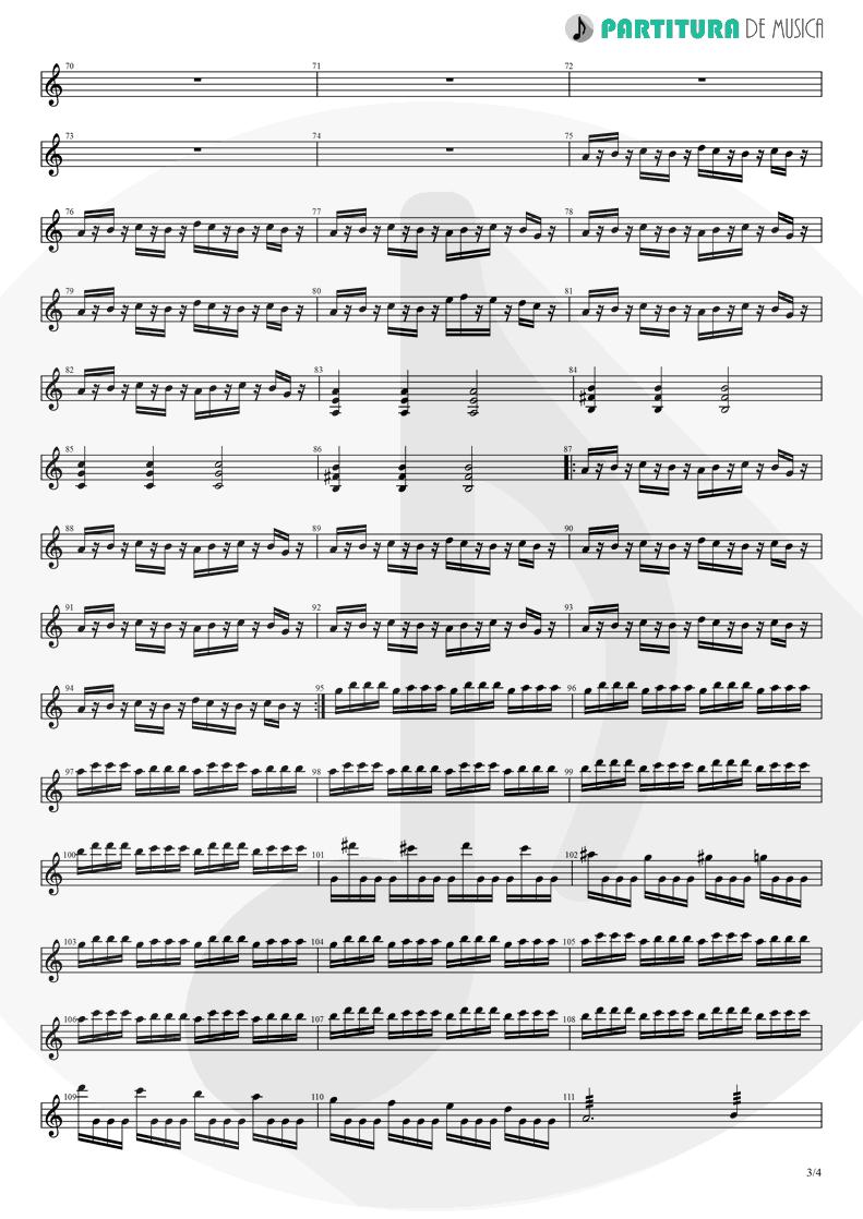 Partitura de musica de Guitarra Elétrica - Avientame | Caifanes | El nervio del volcán 1994 - pag 3