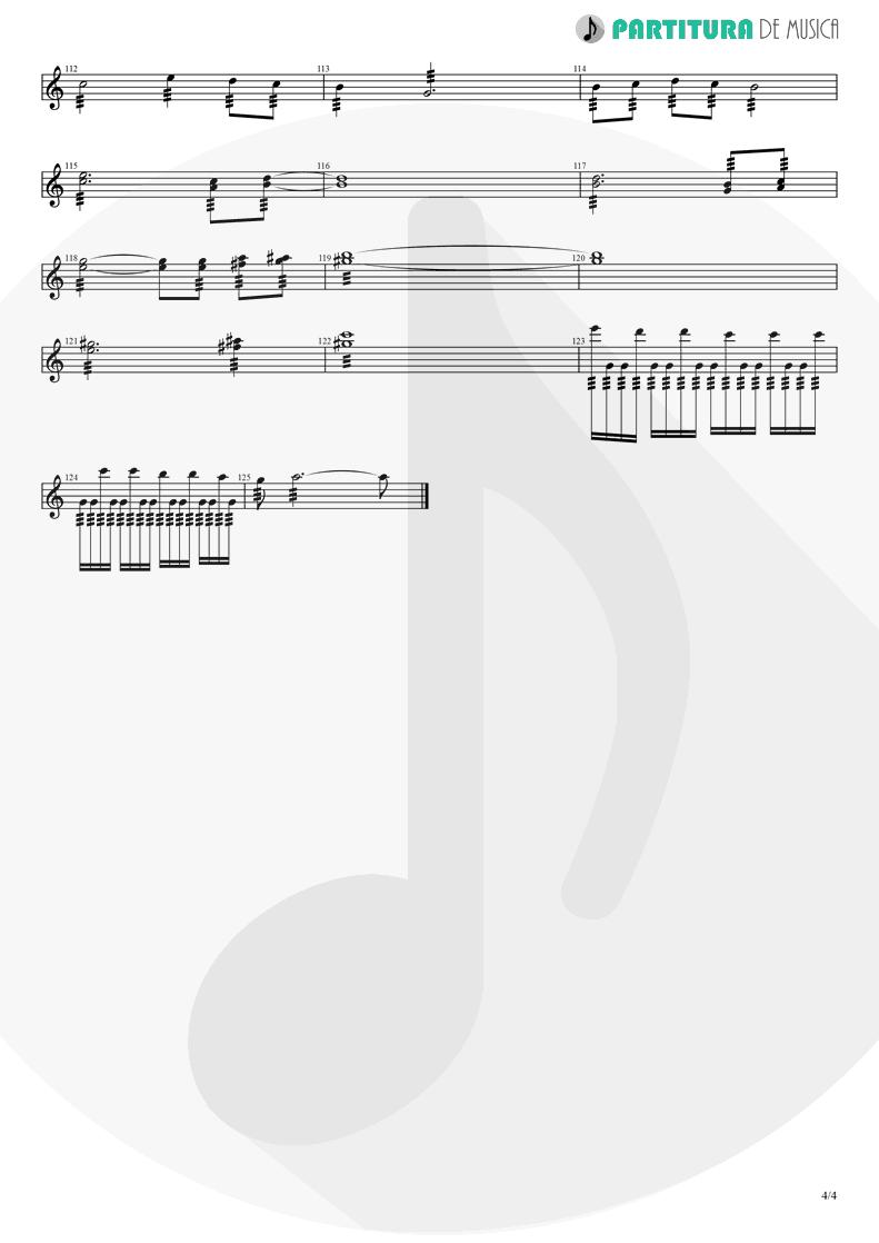 Partitura de musica de Guitarra Elétrica - Avientame | Caifanes | El nervio del volcán 1994 - pag 4