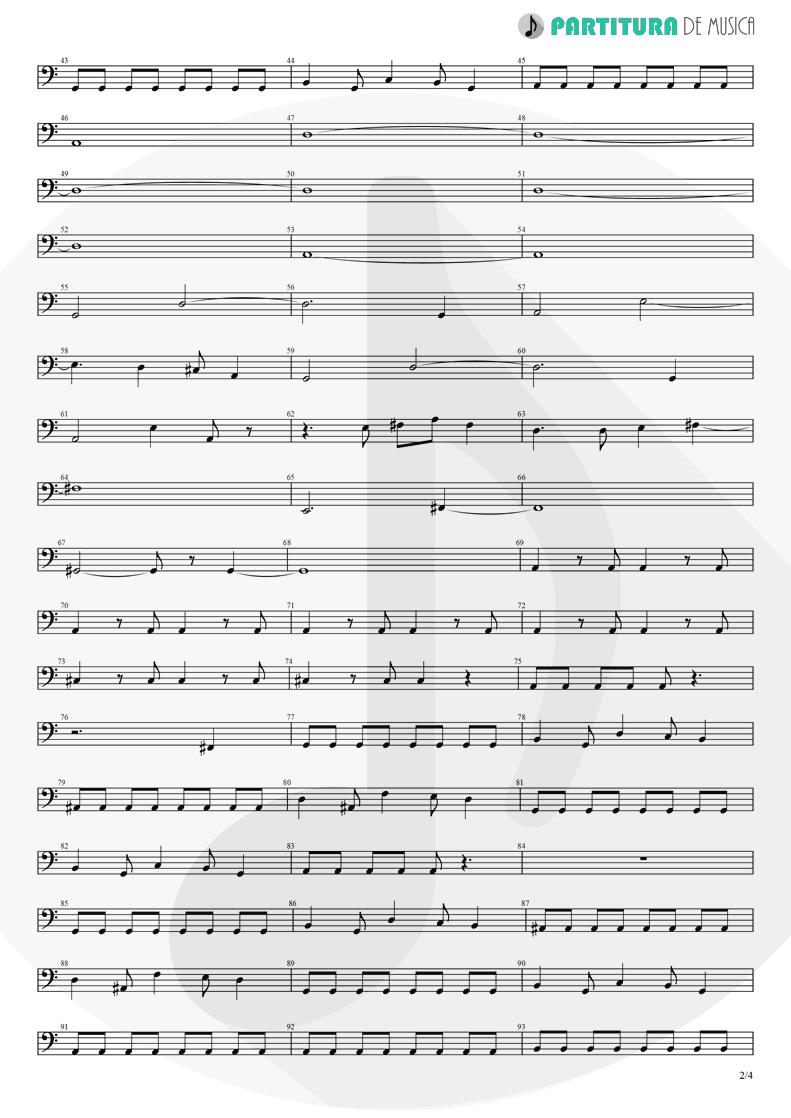 Partitura de musica de Baixo Elétrico - Pero Nunca Me Cai | Caifanes | El nervio del volcán 1994 - pag 2
