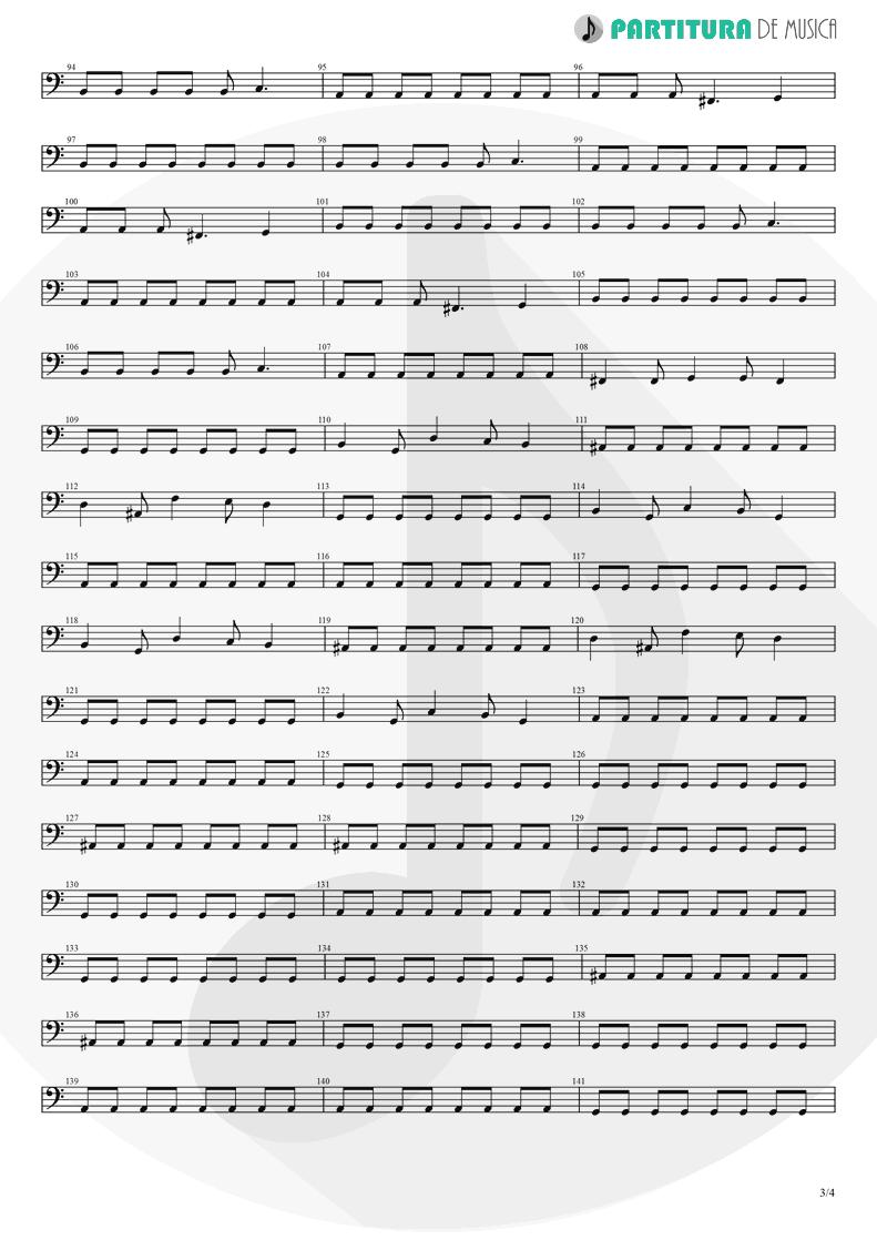 Partitura de musica de Baixo Elétrico - Pero Nunca Me Cai | Caifanes | El nervio del volcán 1994 - pag 3