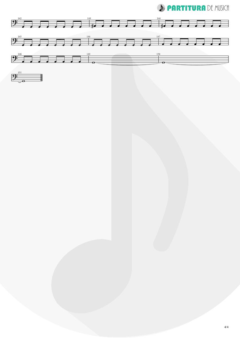 Partitura de musica de Baixo Elétrico - Pero Nunca Me Cai | Caifanes | El nervio del volcán 1994 - pag 4