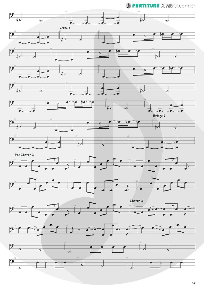 Partitura de musica de Baixo Elétrico - Todas As Noites | Capital Inicial | Eletricidade 1991 - pag 2