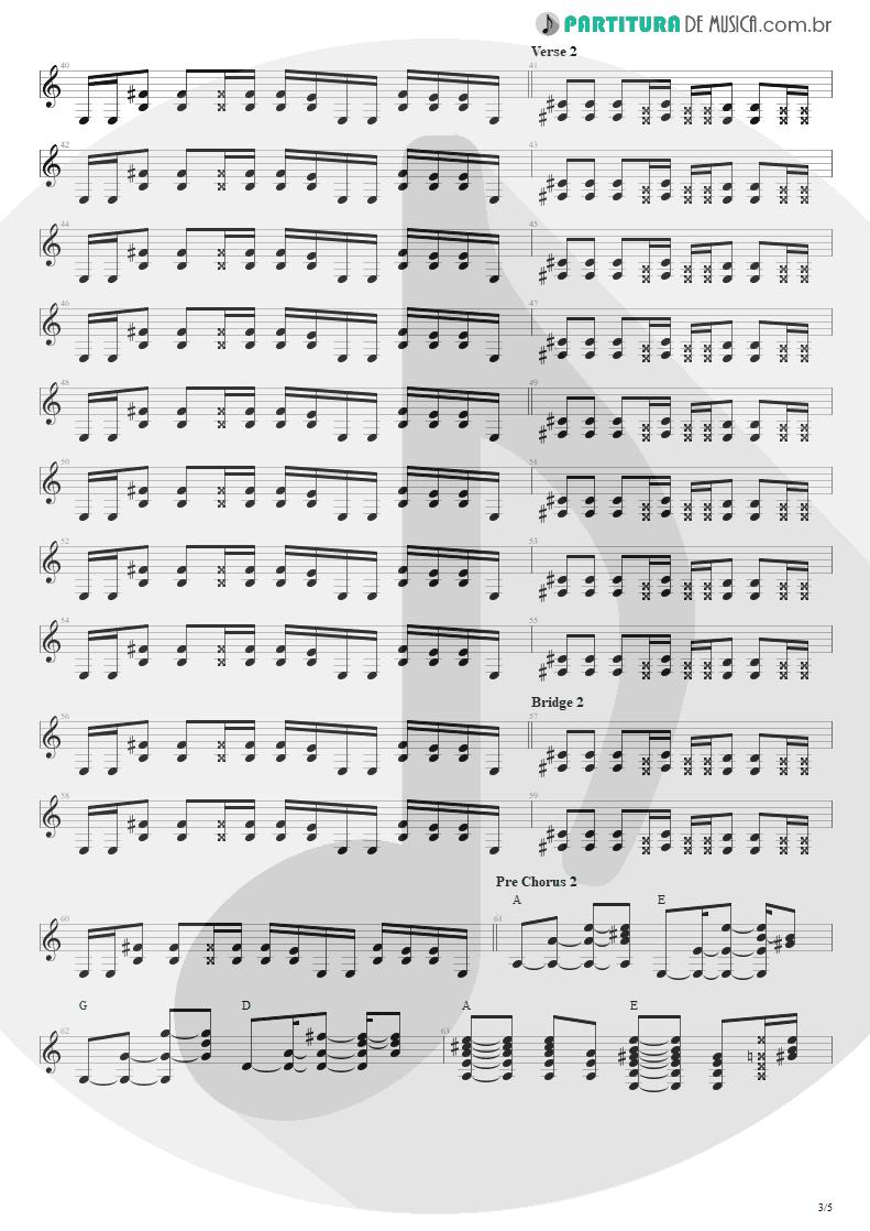Partitura de musica de Violão - Todas As Noites | Capital Inicial | Eletricidade 1991 - pag 3