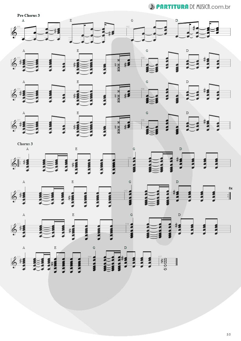 Partitura de musica de Violão - Todas As Noites | Capital Inicial | Eletricidade 1991 - pag 5