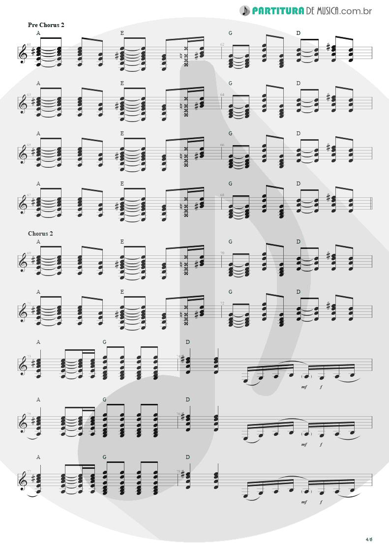 Partitura de musica de Violão - Todas As Noites | Capital Inicial | Eletricidade 1991 - pag 4