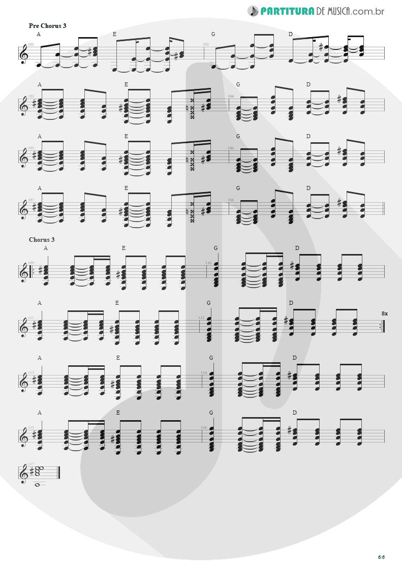 Partitura de musica de Violão - Todas As Noites | Capital Inicial | Eletricidade 1991 - pag 6