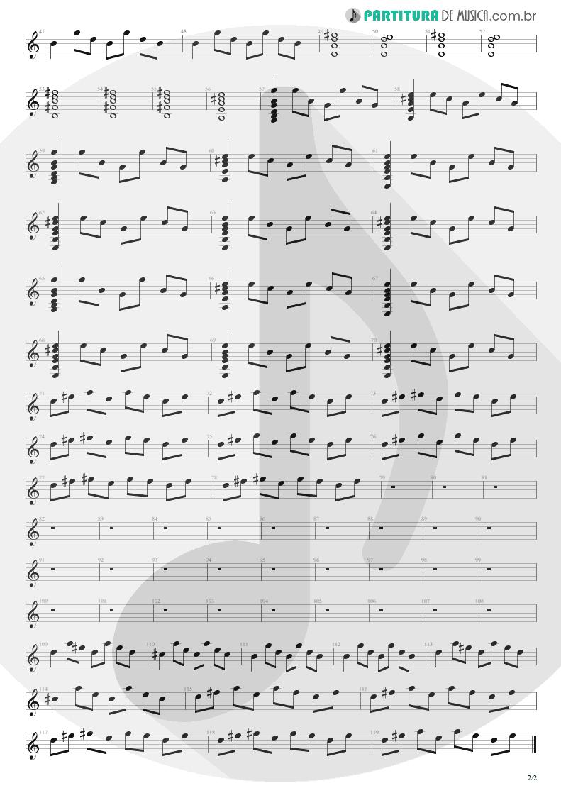 Partitura de musica de Guitarra Elétrica - Primeiros Erros (Chove) | Capital Inicial | Acústico MTV 2000 - pag 2