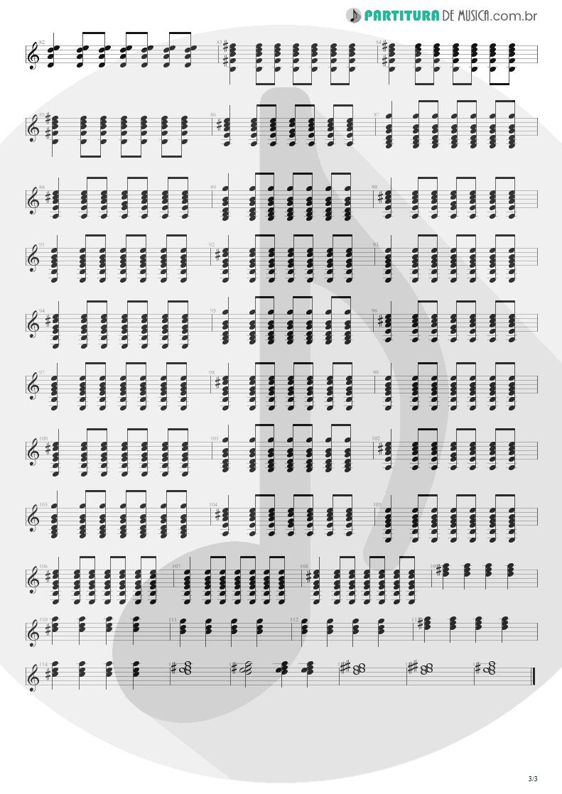 Partitura de musica de Violão - Primeiros Erros (Chove) | Capital Inicial | Acústico MTV 2000 - pag 3
