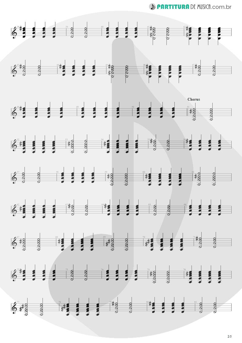 Partitura de musica de Violão - Tudo Que Vai | Capital Inicial | Acústico MTV 2000 - pag 2