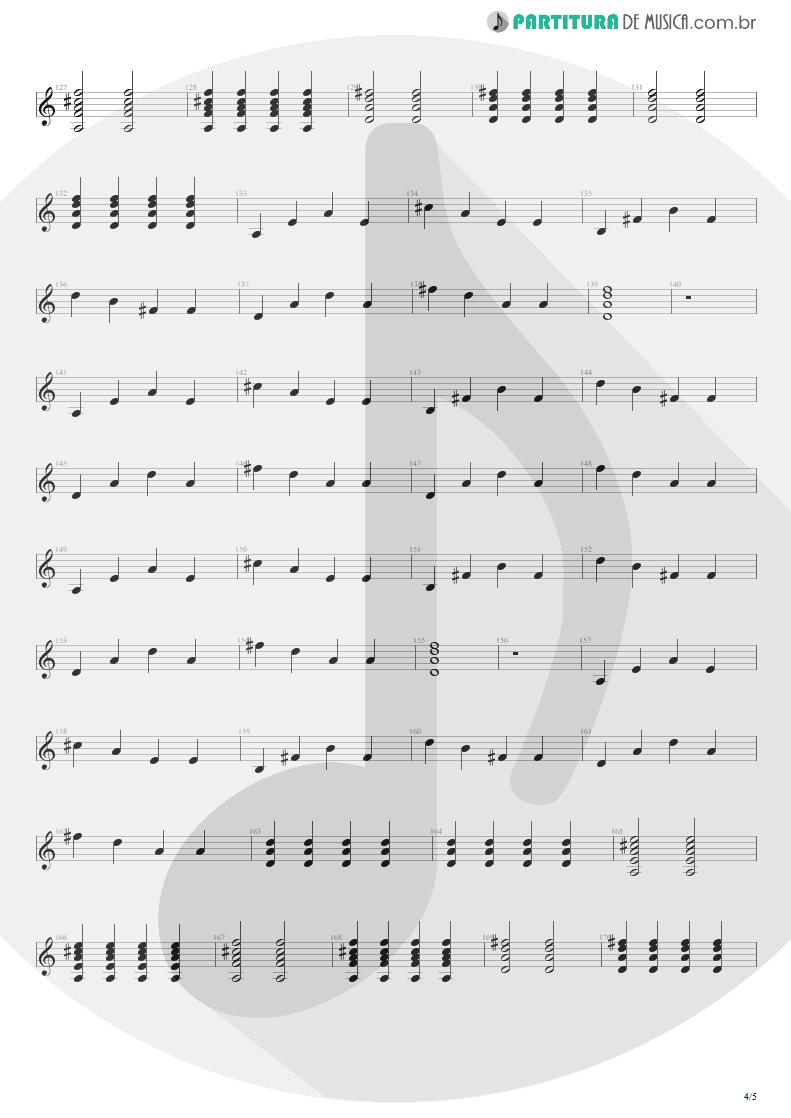 Partitura de musica de Violão - Tudo Que Vai | Capital Inicial | Acústico MTV 2000 - pag 4