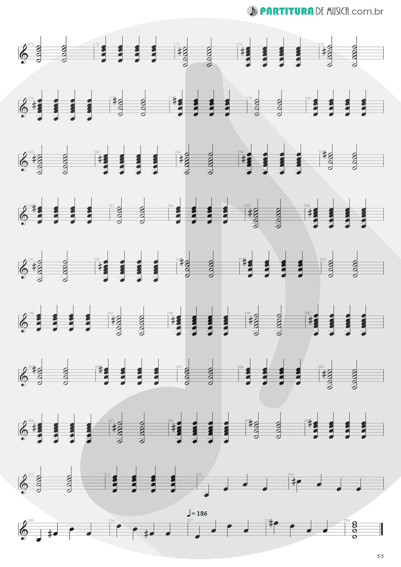 Partitura de musica de Violão - Tudo Que Vai | Capital Inicial | Acústico MTV 2000 - pag 5