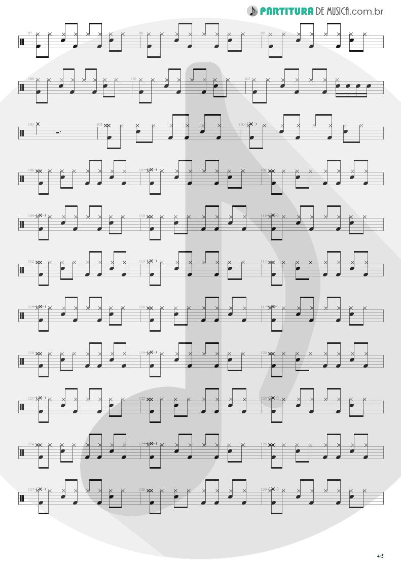 Partitura de musica de Bateria - Quatro Vezes Você | Capital Inicial | Rosas e Vinho Tinto 2002 - pag 4
