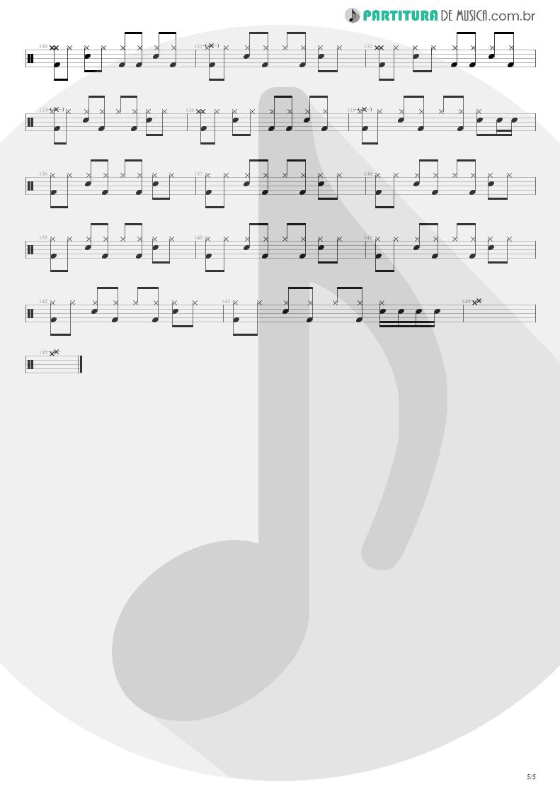 Partitura de musica de Bateria - Quatro Vezes Você | Capital Inicial | Rosas e Vinho Tinto 2002 - pag 5