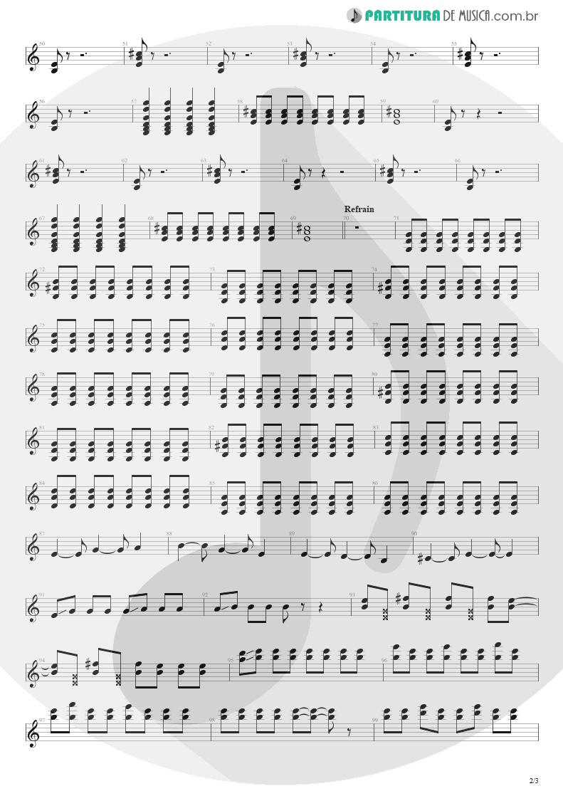 Partitura de musica de Guitarra Elétrica - Quatro Vezes Você | Capital Inicial | Rosas e Vinho Tinto 2002 - pag 2